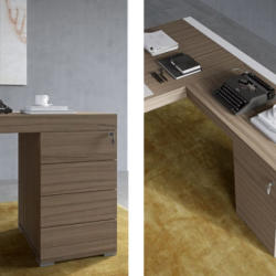 Andreotti Furniture Office Collection - Office Desk With Drawers